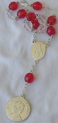 Mini red rosary central europe