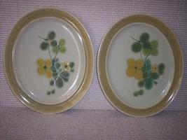 Franciscan Green Olive Serving Oval Plates 2 - $45.59