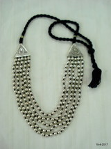 Vintage Sterling Silver Necklace Silver beads mala necklace handmade - $464.31