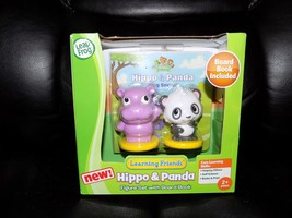 LEAP FROG LEARNING FRIENDS HIPPO & PANDA FIGURE SET W/BOARD BOOK NEW - $19.92