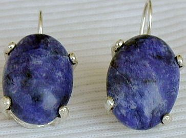 Lapis oval earrings  4