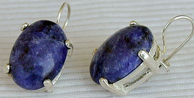 Lapis oval earrings