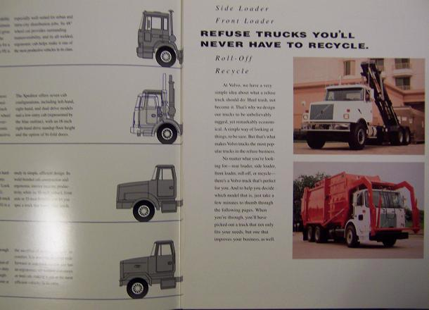 1996 Volvo Refuse Trucks Brochure