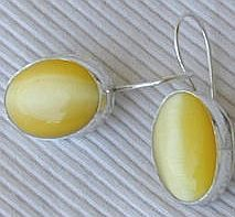 Strong yellow earrings