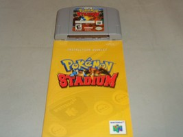 Pokemon Stadium, Game w/ End Label & Manual, Nintendo 64 - $24.99