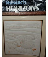 Monarch Horizons Candlewicking Sea Shells Kit CR50 Vintage 1983 Started kit - $4.94