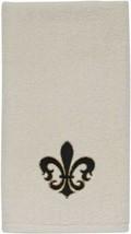 Avanti Luxembourg Fleur de Lis towel Velour Fingertip Towel Embroidered ... - $21.66