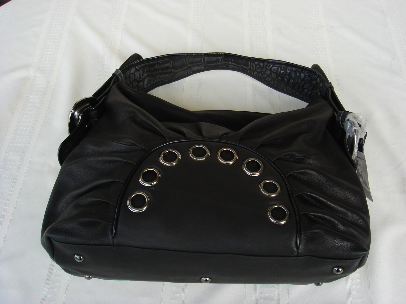 Betsey Johnson Black Leather Rockin Croc
