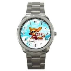 ADORABLE BABY REINDEER CHRISTMAS GOLD-TONE WATCH 9 OTHR STYLS CHARM, SPORTS, ETC