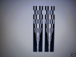 CHECKERED STRIPE#24 DECAL GRAPHIC CAR TRUCK SUV - $44.00