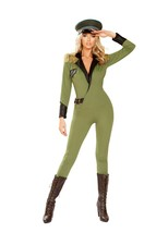 Roma Sexy Military Army Babe Green Catsuit Costume 4924 - $68.99