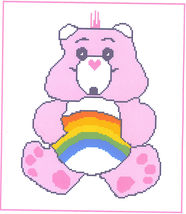 Cheer Bear Crochet Graph Afghan Pattern - $5.00