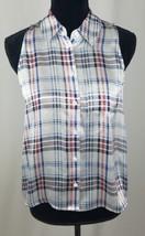 Equipment women S white Mina sleeveless blouse button down silk  - $59.54