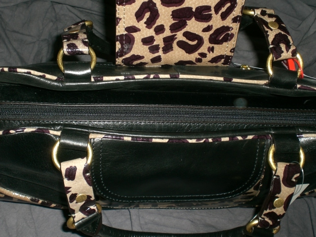 Hype Brescha Animal Print Leather Satchel FREE SHIP