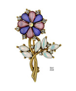 Beautiful Flower Brooch Lapel Pin - $14.00