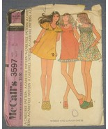 McCalls pattern 3597 Misses & Junior Dress - Si... - $4.00