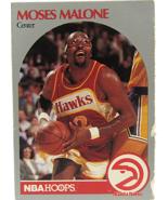 1990 NBA Properties NBA Hoops Atlanta Hawks Center Moses Malone - $3.95