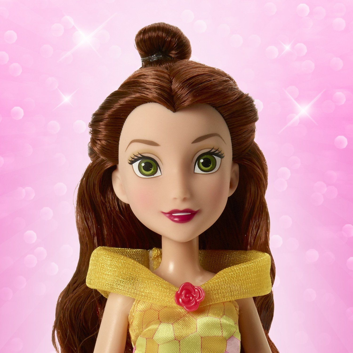 Image 3 of Disney Princess Belle's Magical Story Skirt Doll in Fuchsia/Yellow by Hasbro