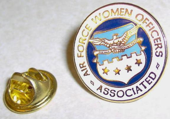 Air Force Women Officers Associated 4 Star Lapel Pin