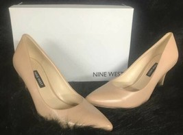 Nine West Flax Pointed Toe Pumps Women's Shoes Light Natural Beige leather  7 m - $49.45
