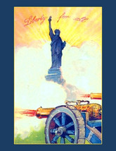 "Liberty for All, July 4th, Statue, Cannons.  Patriotic USA. 8x10"" Cotton... - $15.99"