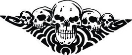 Skull #132 Decal Graphic Car Truck Semi Trailer Suv Van - $33.29