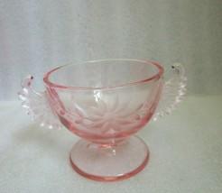 Vintage Westmoreland Pink Depression Glass Sugar Bowl W Featured Wings Handles! - $9.85