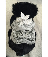 Wedding Veil Type Collar for Small or Toy Dogs Hand Crafted to Order - $24.00