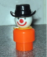 Vintage Fisher Price Little People Orange Clown - $4.00