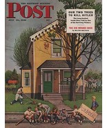 ORIG VINTAGE MAGAZINE COVER/ SATURDAY EVENING POST - JULY 20 1946 - $13.00