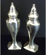 BM Co Silver Plate Sigma Pi Rho Fraternity Salt Pepper Set  - $16.95