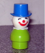 Vintage Fisher Price Little People Green Clown - $4.00