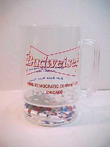 1996 Chicago Democratic Convention Bud Budweiser Beer Plastic Mug