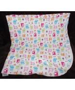 Gerber Kitty Cat Baby Receiving Blanket Flannel White Kitten Pink Blue G... - $19.77
