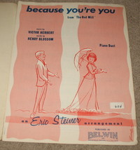Because You're You (from the Red Mill) Sheet Music - 1963 -  - $9.99