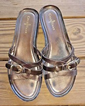 Cole Haan Size 10.5 Air Brown Leather Flip Flop Women's Sandals Open Toe Comfort - $32.29