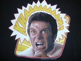 Star Trek Capt James Kirk Wrath of Khan Movie Black T Shirt S - $9.89
