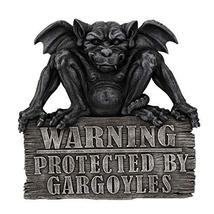 Pacific Giftware Gargoyle Warning: Protected by Gargoyles Warning Plaque - $36.00