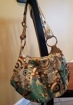 KATHY VAN ZEELAND  handbag purse Gorgeous Print Studded Bag - $9.50