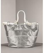 Kooba Silver Stella Metallic Leather Tote $600+ - $199.99
