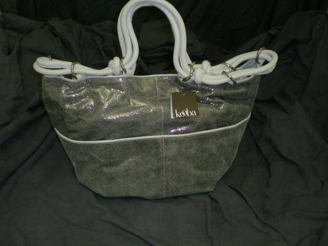 Kooba Silver Stella Metallic Leather Tote $600+