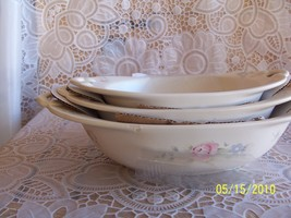 Pfaltzgraff Tea Rose Nesting Oval Bowls Mfg Defect  - €22,56 EUR
