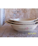 Pfaltzgraff Tea Rose Nesting Oval Bowls Mfg Defect  - $24.99