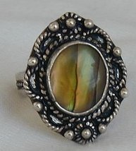Colored silver ring - $23.00