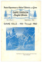 Game Kills 1951 - 1960 booklet Maine Dept Inlnad Fisheries Game vintage - $14.00