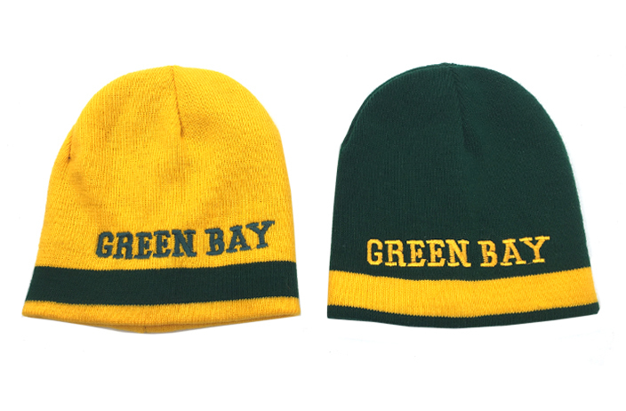 "Case of [24] ""Green Bay"" Reversible Winter Hat"