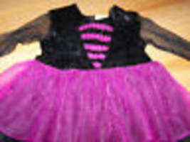 Infant Size 12-18 Months Halloween Witch Costume Dress Purple & Black Ve... - $12.00