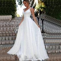 Luxury Ivory Lace Wedding V-Neck Backless Wedding Dress image 7