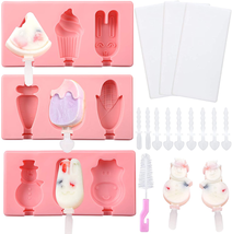 3 PCS Silicone Popsicle Molds with Lid, Homemade  Ice Cream, Ice, Cake - $11.65