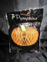 Vintage Beistle Honeycomb Pumpkin Decoration Ce... - $29.09